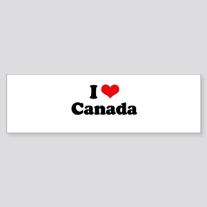 I love Canada Bumper Sticker