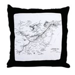 PRR Electrified Lines Map Throw Pillow
