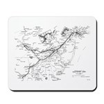 PRR Electrified Lines Map Mousepad
