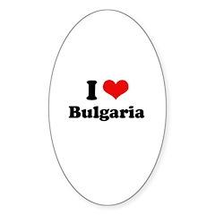 I love Bulgaria Oval Decal