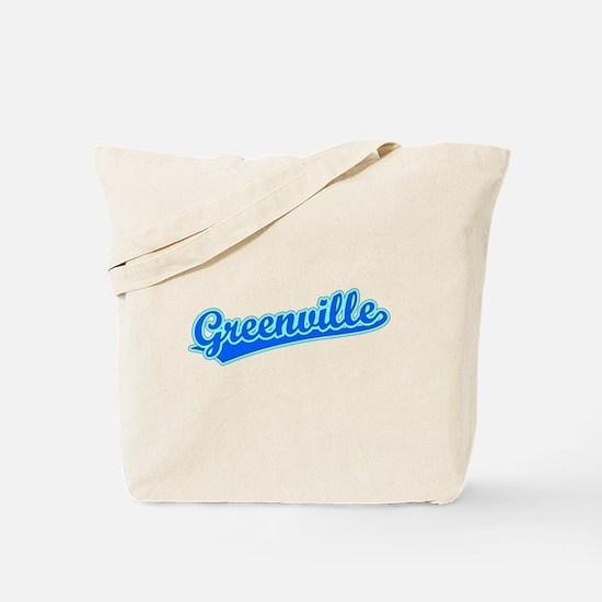 Retro Greenville (Blue) Tote Bag