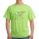 PRR Electrified Lines Map Green T-Shirt