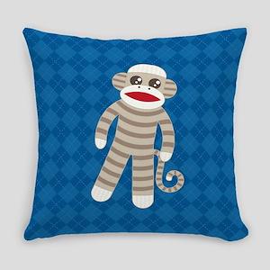 Sock Monkey Everyday Pillow