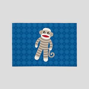 Sock Monkey 4' x 6' Rug