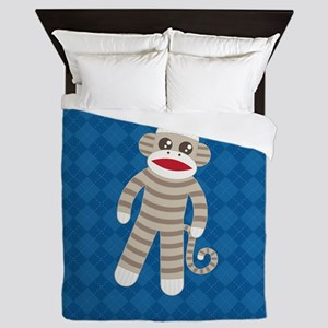 Sock Monkey Queen Duvet