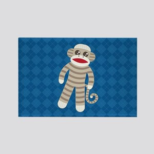 Sock Monkey Rectangle Magnet