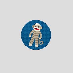 Sock Monkey Mini Button