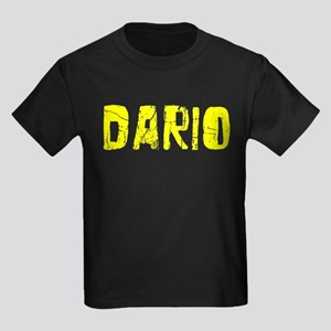 Dario Faded (Gold) Kids Dark T-Shirt