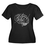 Brain Neuro Map Plus Size T-Shirt