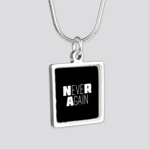 NeveR Again Silver Square Necklace
