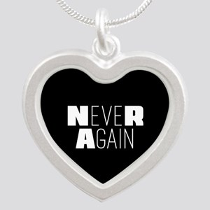 NeveR Again Silver Heart Necklace