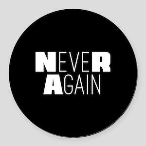 NeveR Again Round Car Magnet