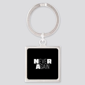 NeveR Again Square Keychain