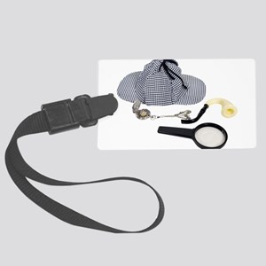 TimeForDetective050110 Large Luggage Tag