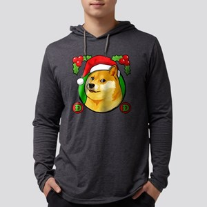 Christmas Doge Meme Doge Santa Long Sleeve T-Shirt