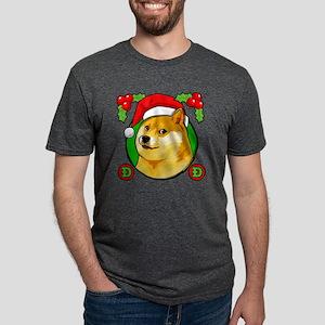 Christmas Doge Meme Doge Santa Hat T-Shirt