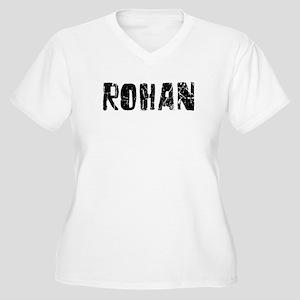 Rohan Faded (Black) Women's Plus Size V-Neck T-Shi