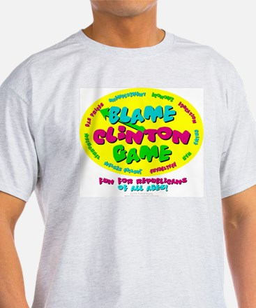 Blame Clinton Game Ash Grey T-Shirt