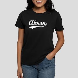 Vintage Akron (Silver) Women's Dark T-Shirt