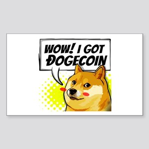 WOW I Got Dogecoin Sticker