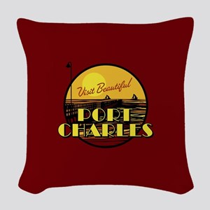 General Hospital Port Charles Woven Throw Pillow