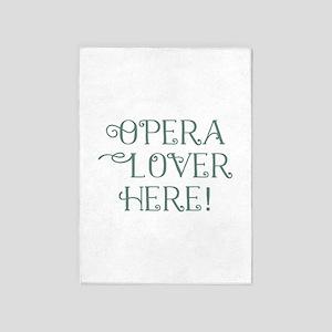 Opera Lover 5'x7'Area Rug