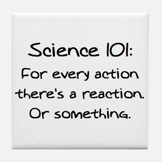 science 101 Tile Coaster