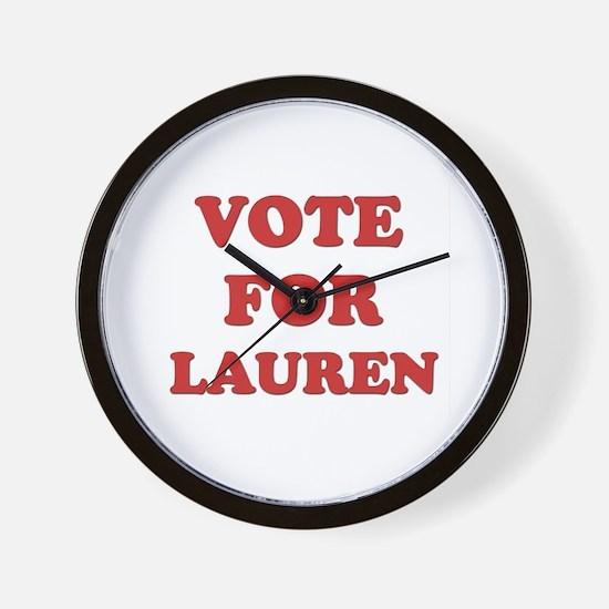 Vote for LAUREN Wall Clock