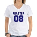 Feaster 08 Women's V-Neck T-Shirt