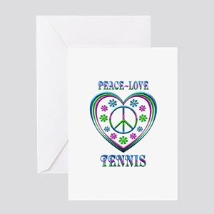 Peace love tennis greeting cards cafepress peace love tennis greeting cards m4hsunfo Choice Image