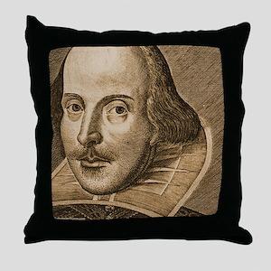 Droeshout's Shakespeare Throw Pillow