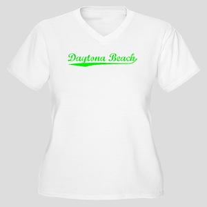 Vintage Daytona Be.. (Green) Women's Plus Size V-N