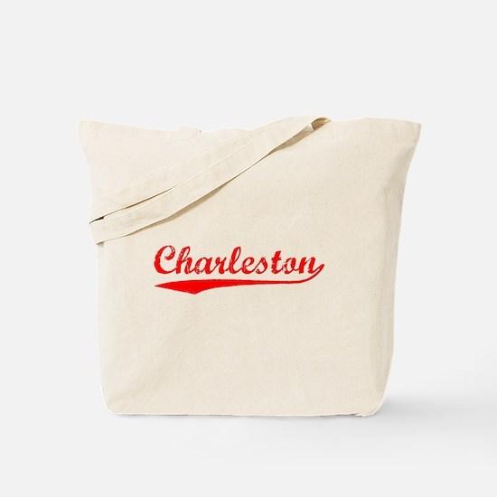 Vintage Charleston (Red) Tote Bag