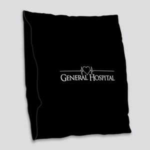 General Hospital Burlap Throw Pillow