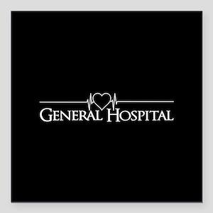 "General Hospital Square Car Magnet 3"" x 3"""