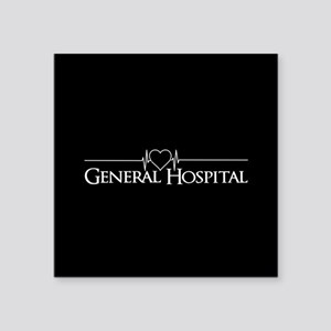 "General Hospital Square Sticker 3"" x 3"""