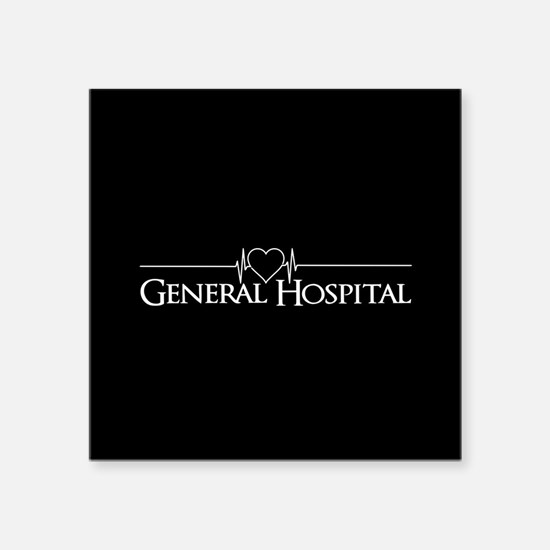 "General Hospital Square Sticker 3"" x 3"""