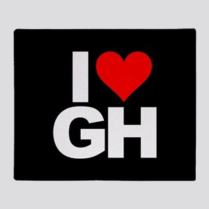 General Hospital I Heart GH Throw Blanket