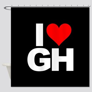 General Hospital I Heart GH Shower Curtain