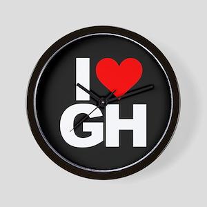 General Hospital I Heart GH Wall Clock