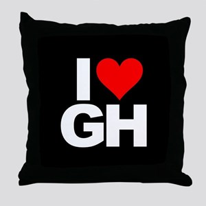 General Hospital I Heart GH Throw Pillow