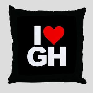 General Hospital I Heart GH Throw Pillow
