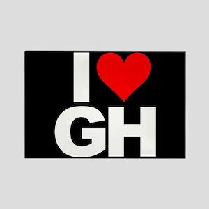 General Hospital I Heart GH Rectangle Magnet