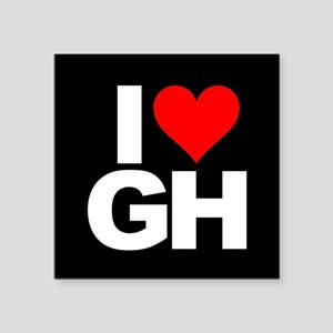 "General Hospital I Heart GH Square Sticker 3"" x 3"""
