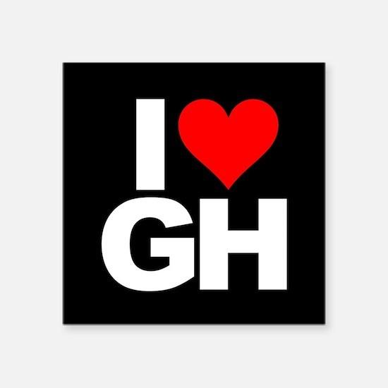 "General Hospital I Heart GH Square Sticker 3"" x 3"""