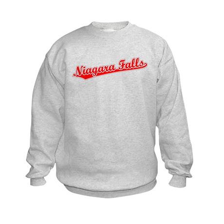 Retro Niagara Falls (Red) Kids Sweatshirt