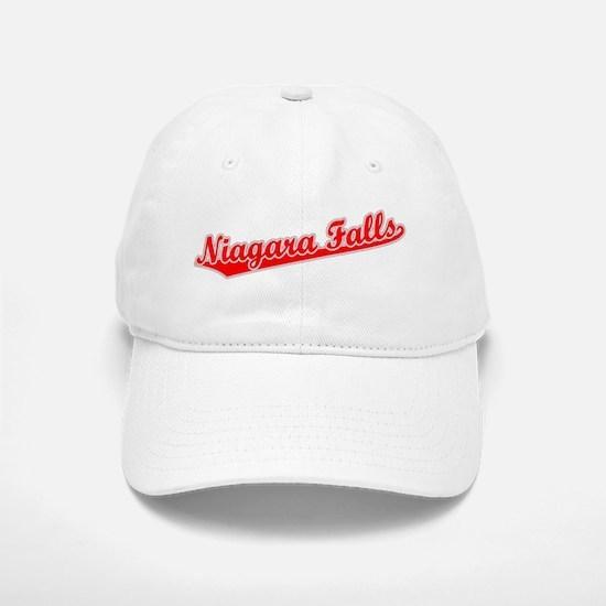Retro Niagara Falls (Red) Baseball Baseball Cap