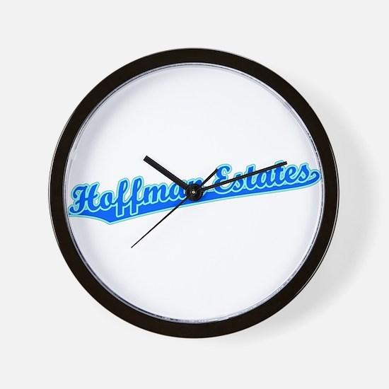 Retro Hoffman Esta.. (Blue) Wall Clock