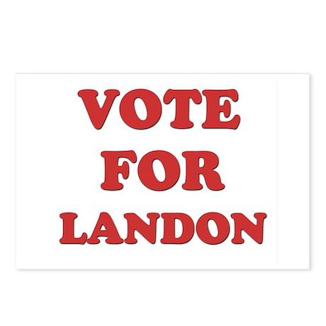 Vote for LANDON Postcards (Package of 8)