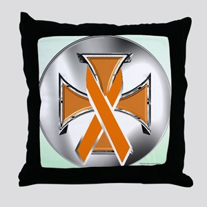 Self-Harm Iron Cross Throw Pillow
